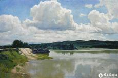 河上的白云