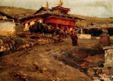 若尔盖的寺庙