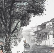 西塘江水墨写生