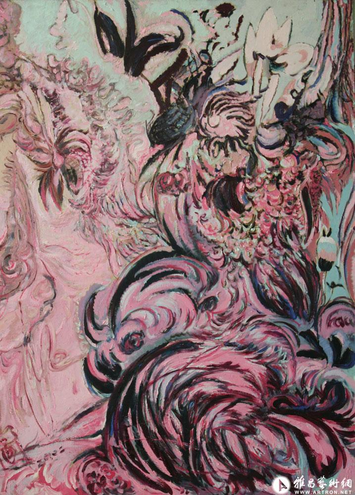 绝壁蔷薇—粉调