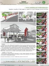 广州市江南西商业步行街景观规划设计展板背景4
