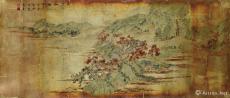 白云红树图