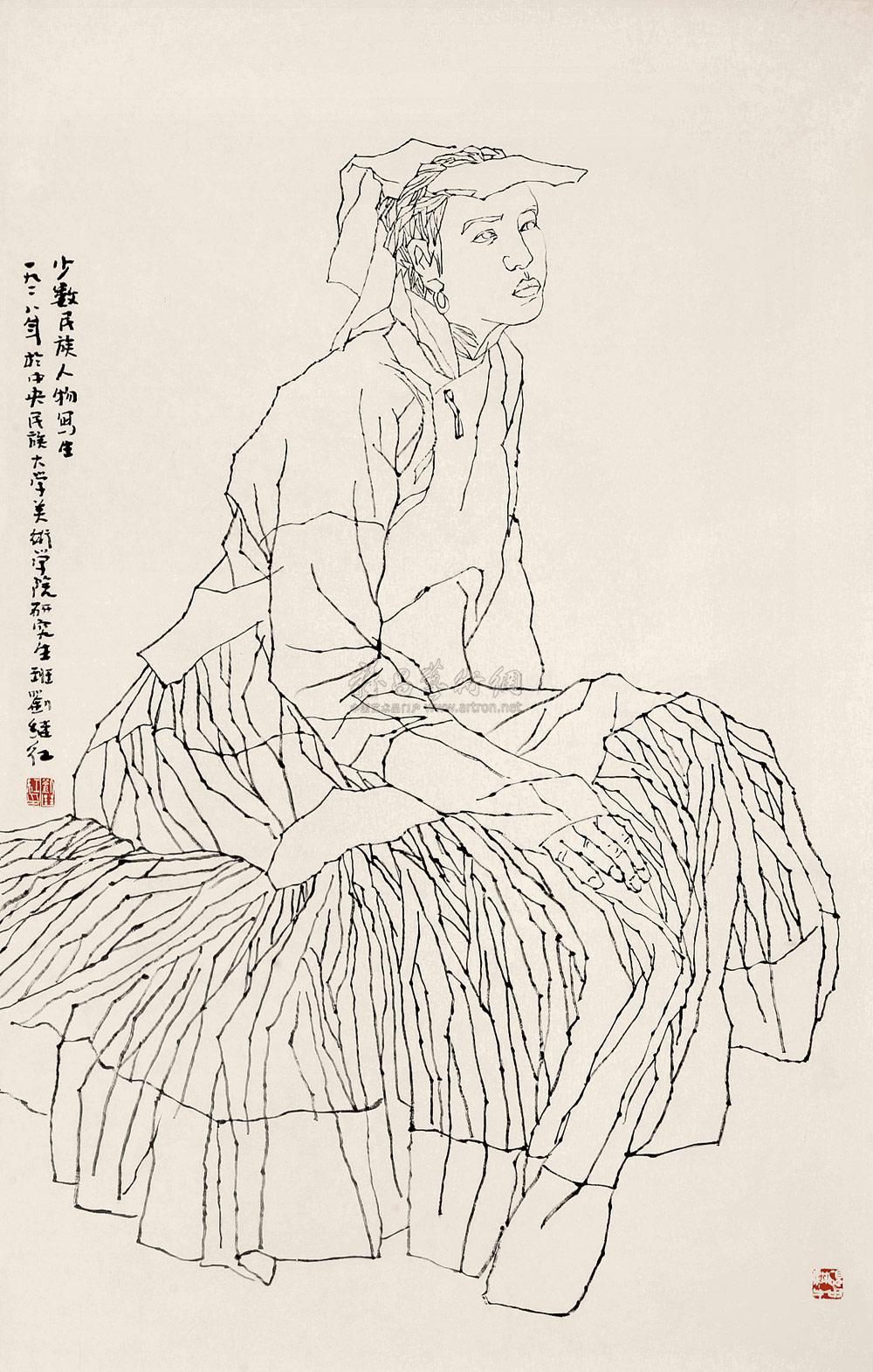 傣族人物简笔画