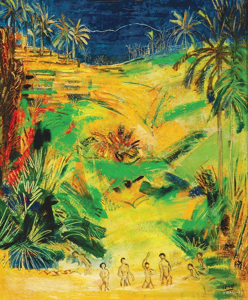 0036 1959年作 巴利岛风景 油画画布