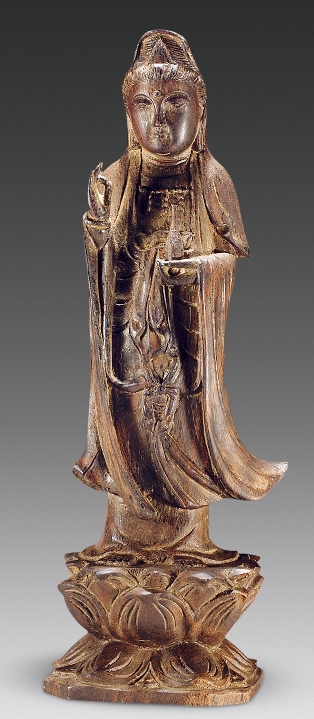 1503 清 沉香木雕观音立像