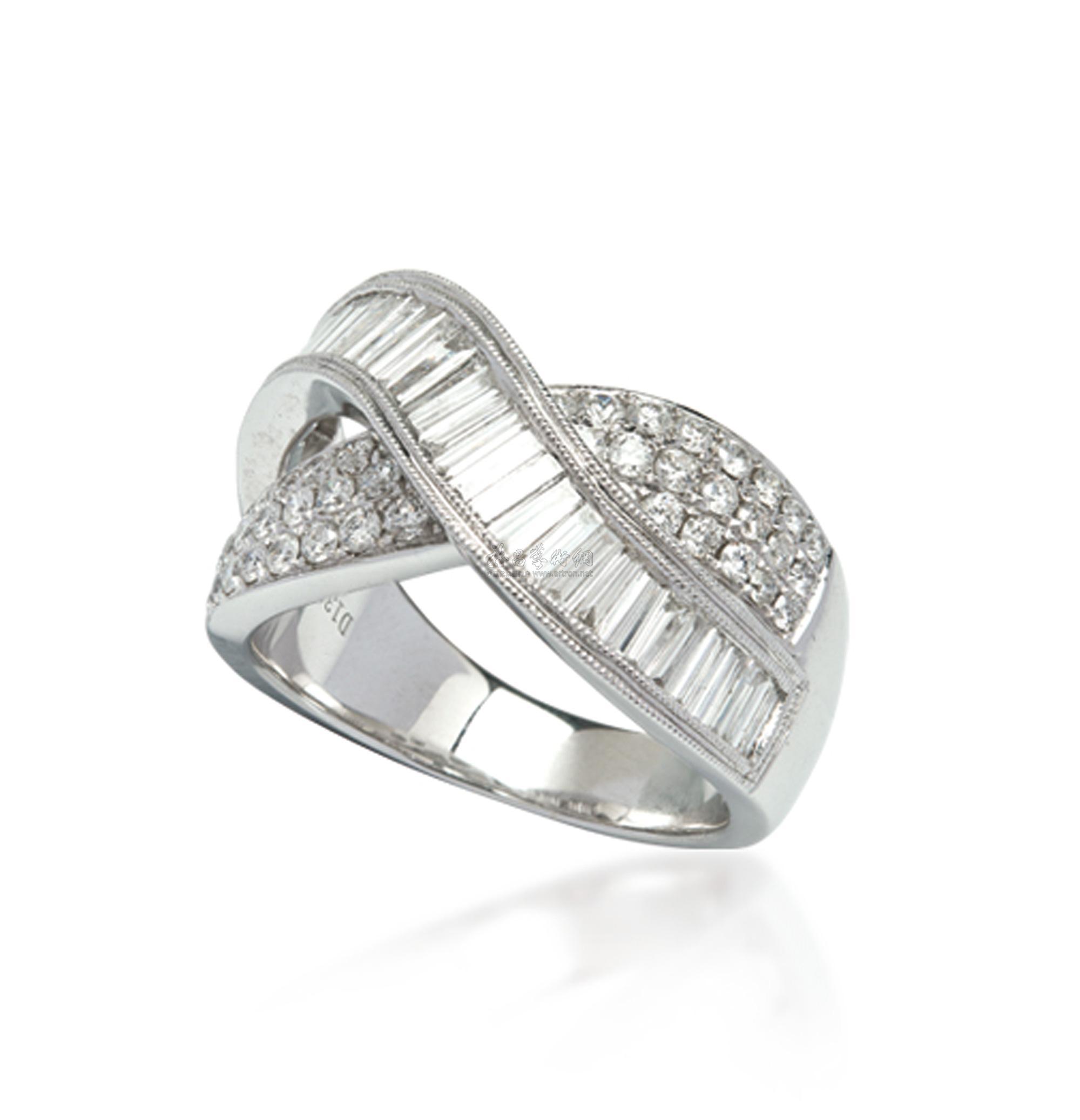 【18k白金钻石戒指】拍卖品