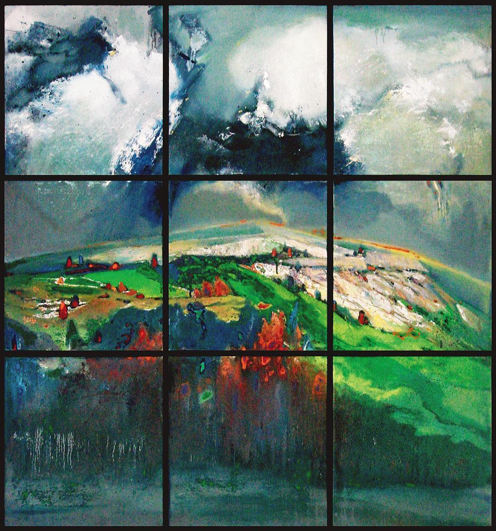 0709 大风景 布面油画框