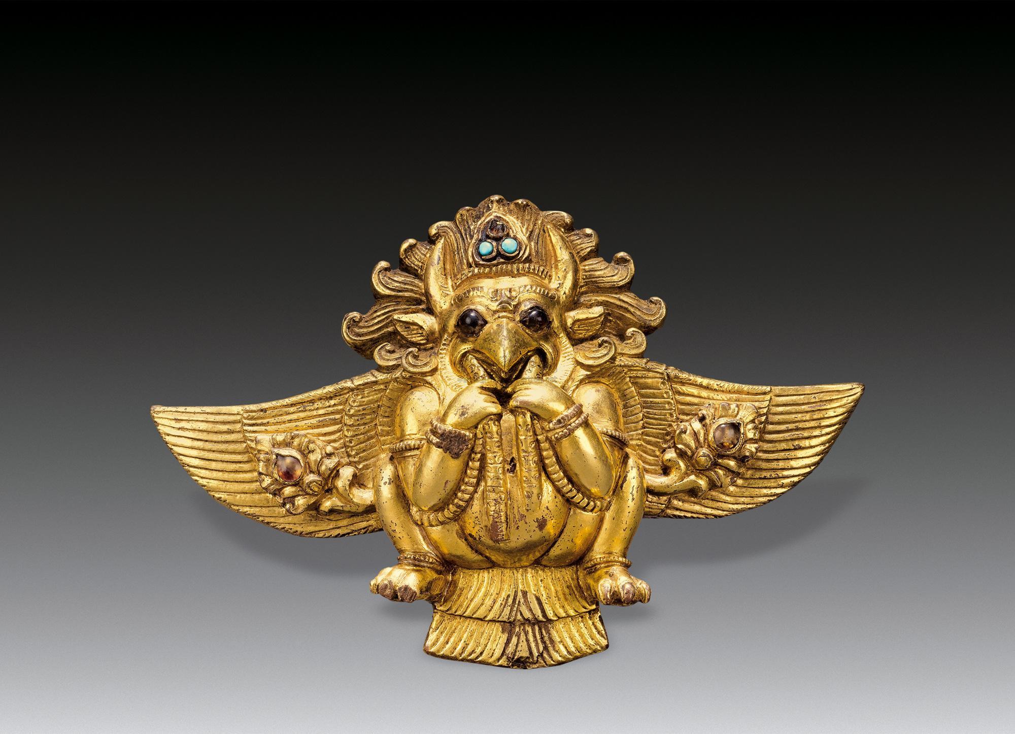 1788 明(15世纪) 铜鎏金大鹏金翅鸟