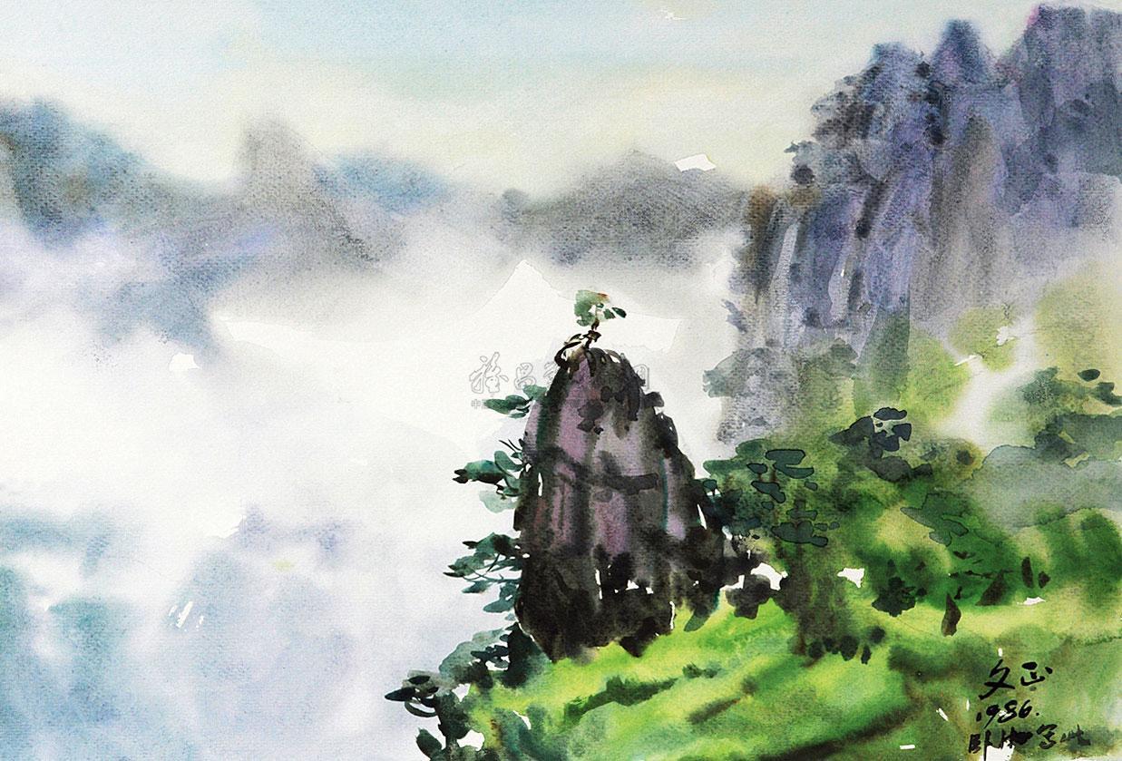 【黄山2 片 纸本】拍卖品_图片_价格_鉴赏_水粉水彩