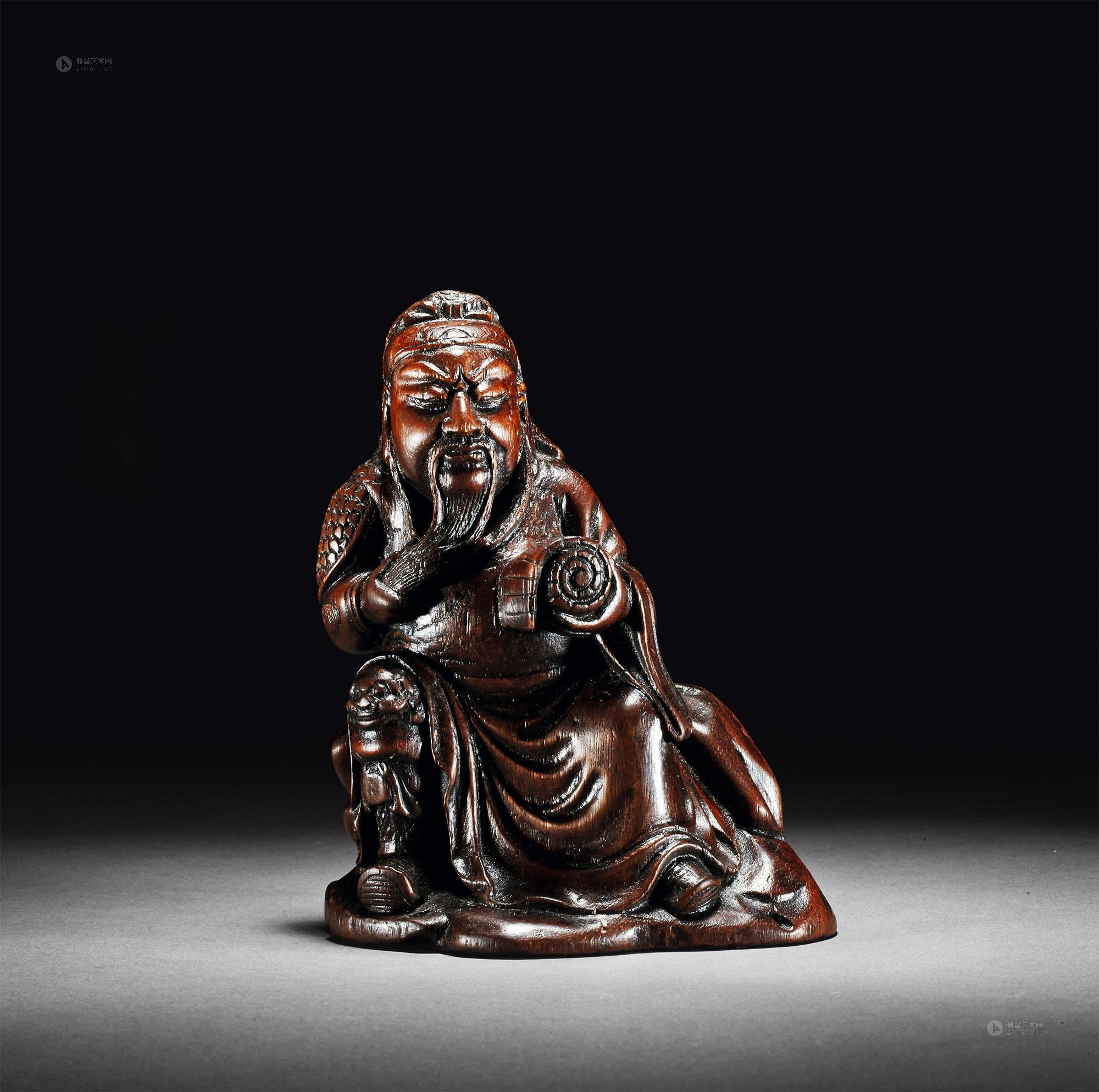 1395 清 沉香木雕关公立像
