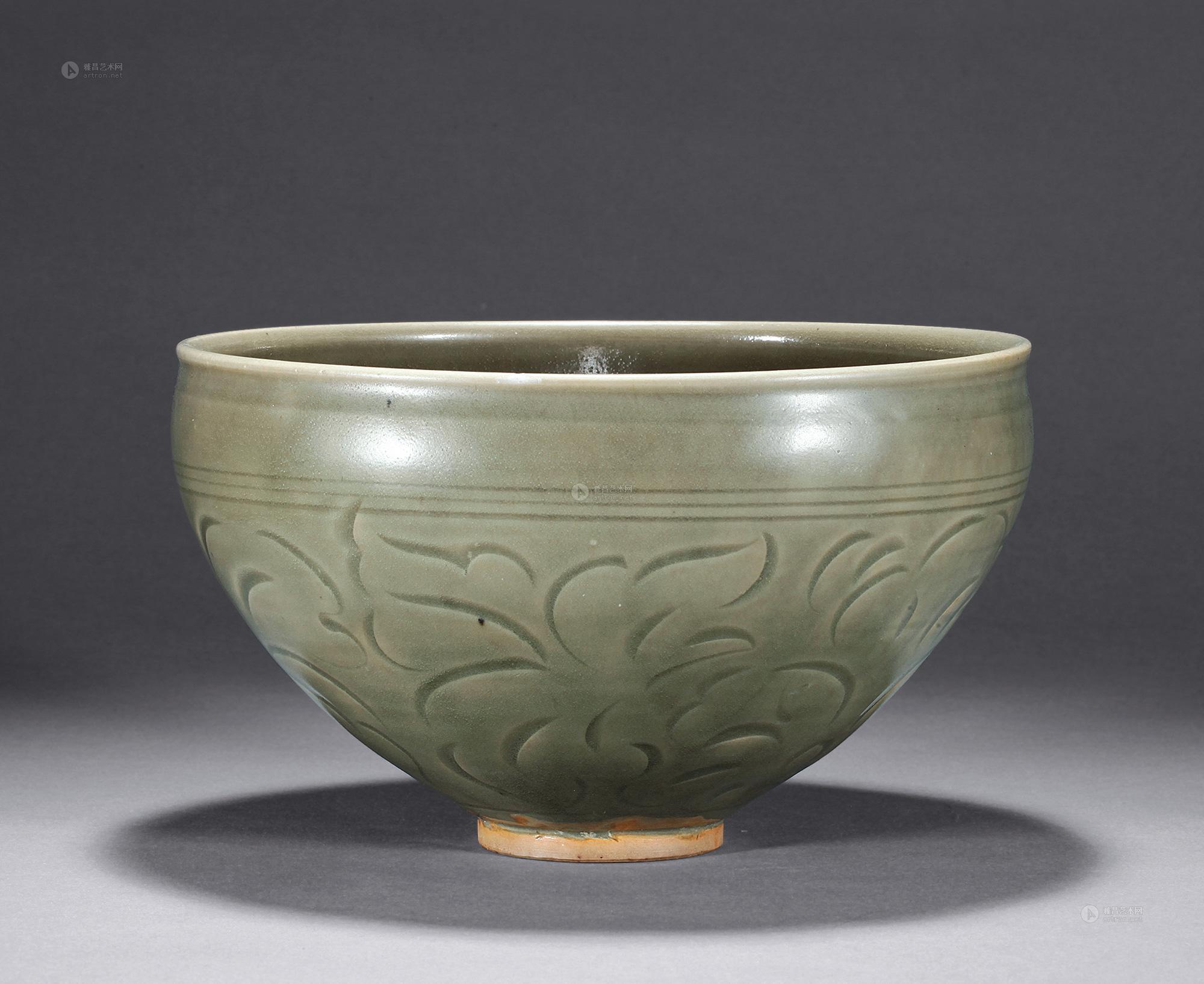 0614 金 耀州窑刻划花纹碗
