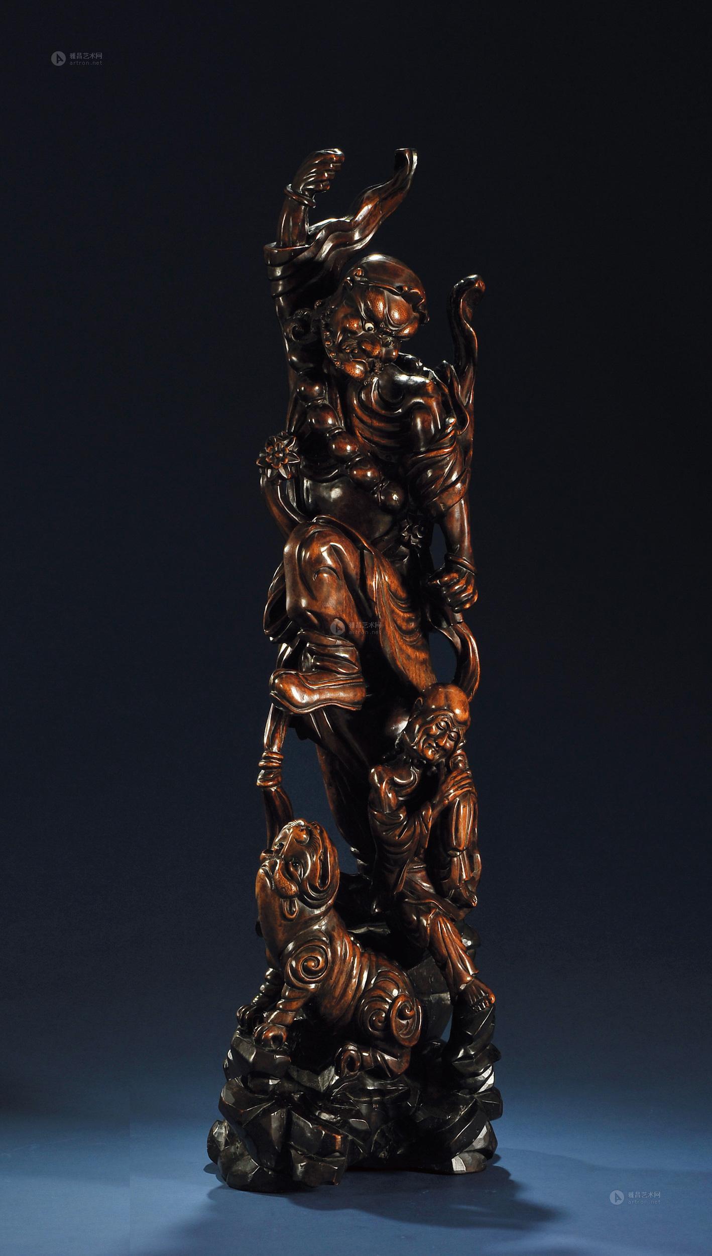 木雕罗汉造像】拍卖品