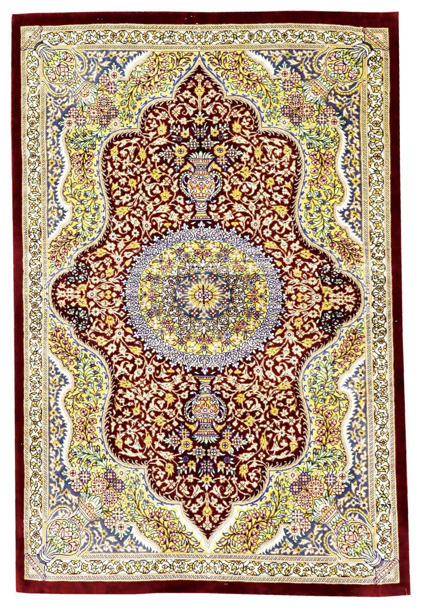 *0462 库姆产 拼花纹波斯绒毯