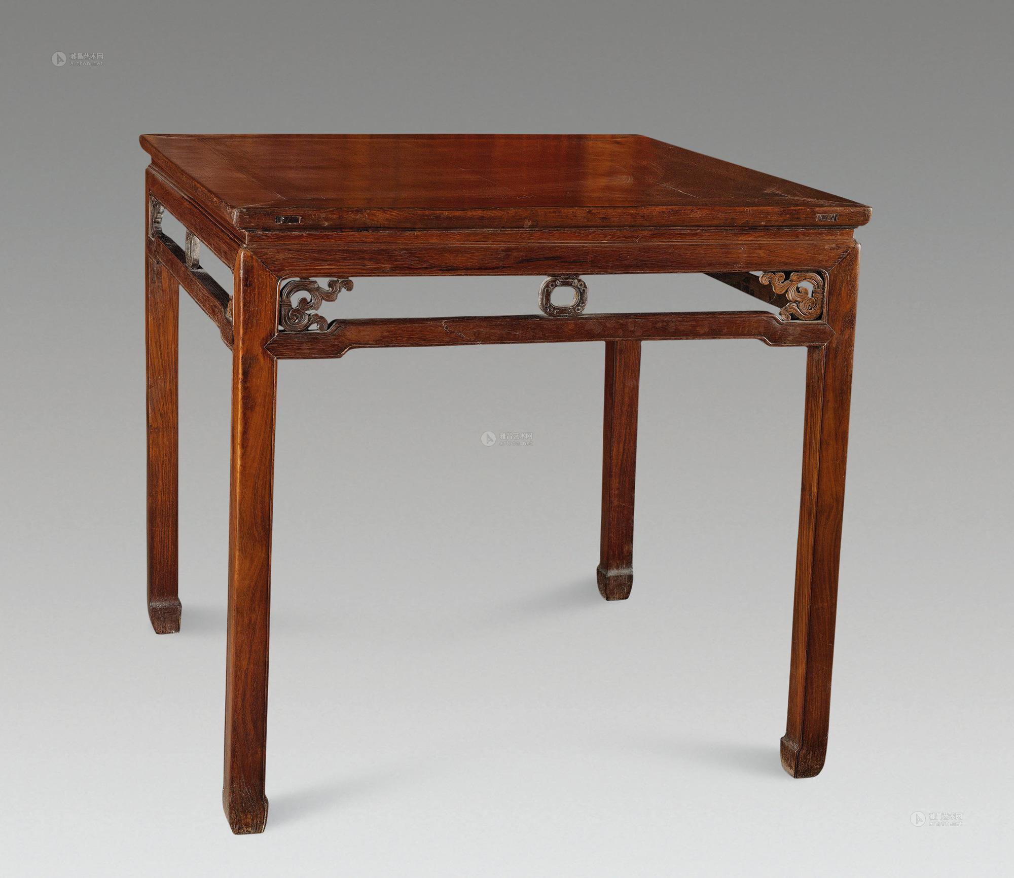 【清中期 红木方桌】拍卖品_图片_价格_鉴赏_红木_品