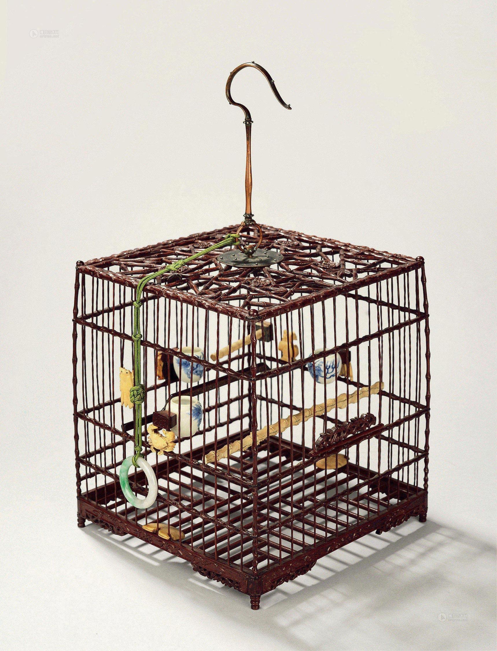 0743 清中 冰梅纹鸟笼