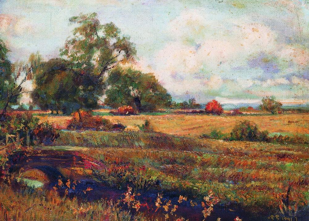 1536 1941年作 田园风景 布上油画