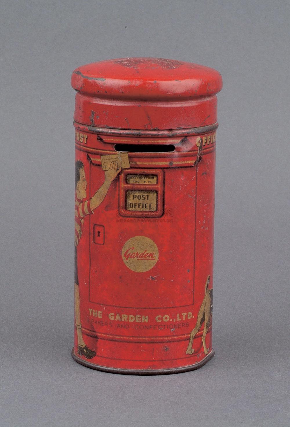 【民国时期小邮筒型红色储蓄罐一个】拍卖品