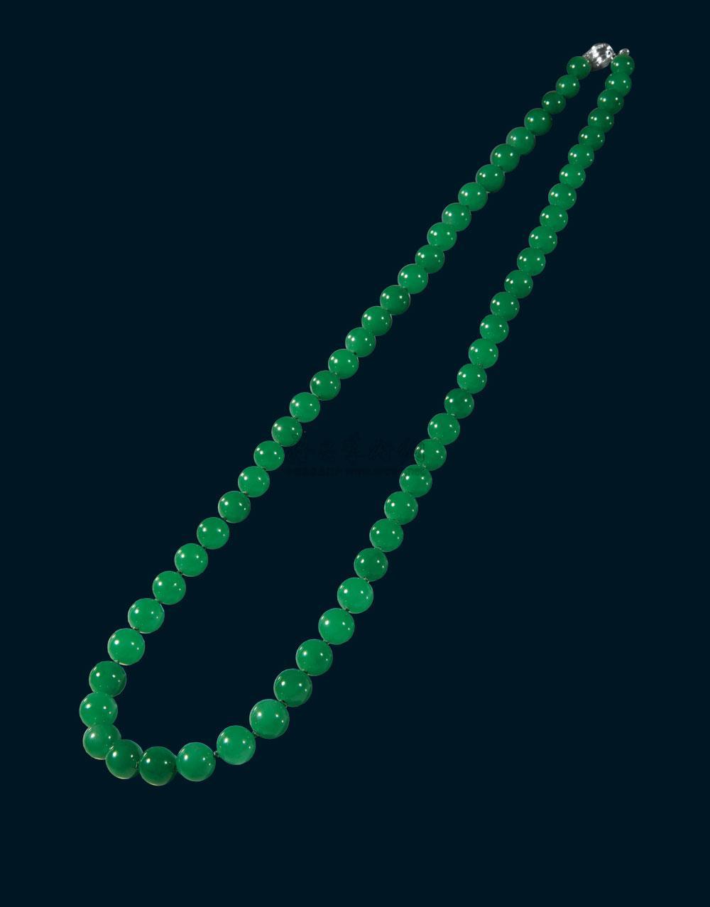 0824 翡翠珠子项链