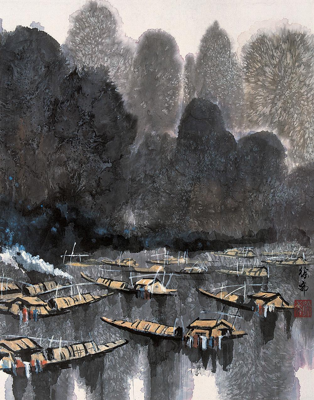 【故乡的船 镜心】拍卖品_图片_价格_鉴赏_绘画_雅昌
