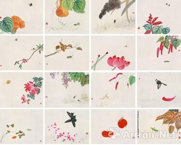 水族花卉名片背景素材