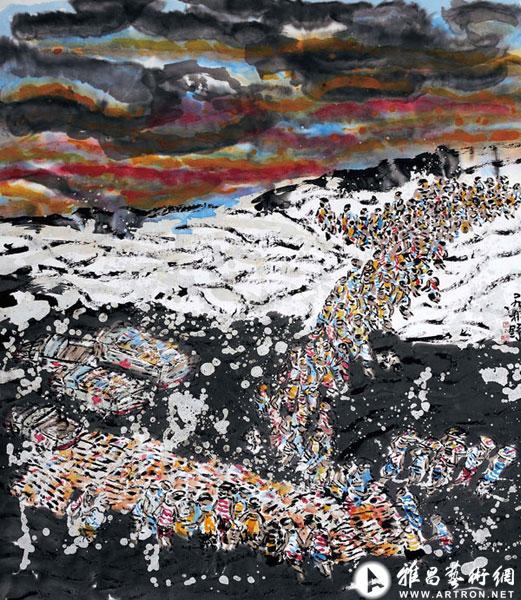 """""""天地求索""""新加坡画家林祥雄绘画艺术世界巡展(郑州站"""