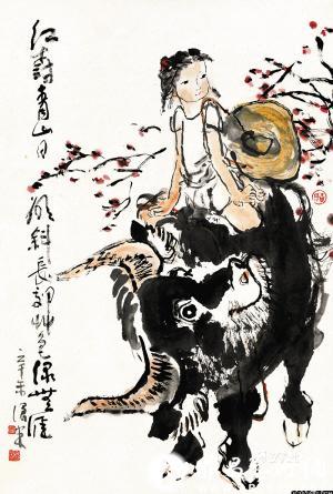 步入中年后,他专攻中国山水画,足迹遍及大江南北,画自己心中的家山丘