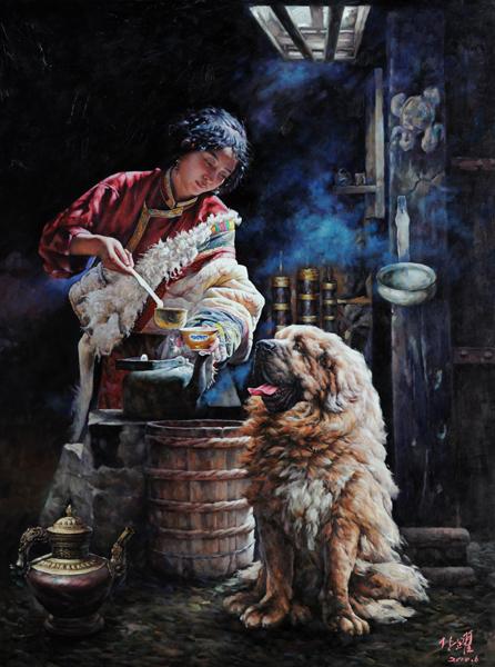林跃藏獒油画主题展在北京民族文化宫隆重开幕 - 一生守护 - 林跃的博客