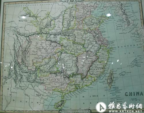 美国绘制中国地图(1842年)
