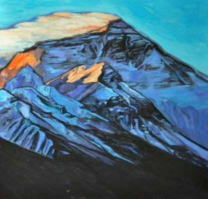 相海进雪域穿越油画风景欣赏