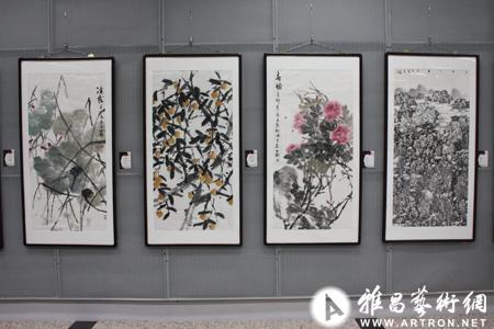 """""""罗殿龙,谭开,韦公衡书画作品展""""在京成功举行图片"""