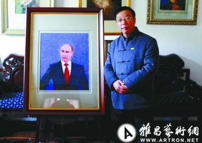 揭开沈绣的神秘面纱 91天完成《普京总统肖像》