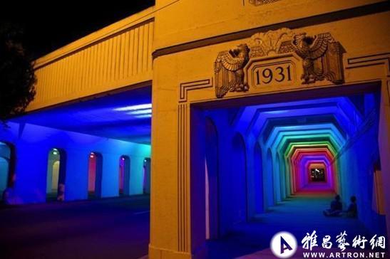 迷幻霓虹隧道