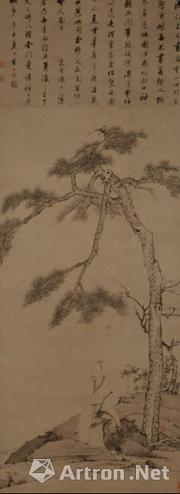 在绘画上擅长山水,早年从学孙无修,中年后又师事肖云从,而他