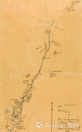 阿拉伯起义亲历者手绘地图将惊艳亮相伦敦苏富比
