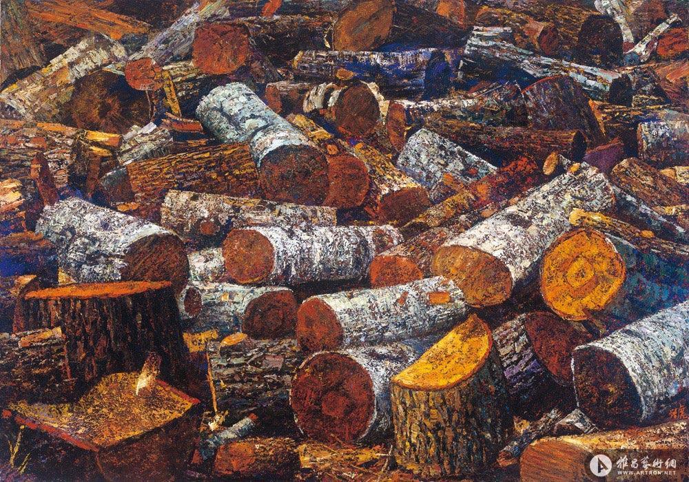 列夫•托尔斯泰的劈材<br>The Wood at Leo Tolstoy's yard