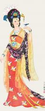 古代名女-杨贵妃赏花