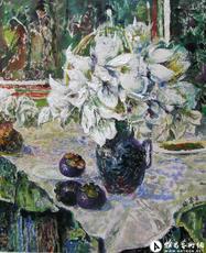 山竹和百合花