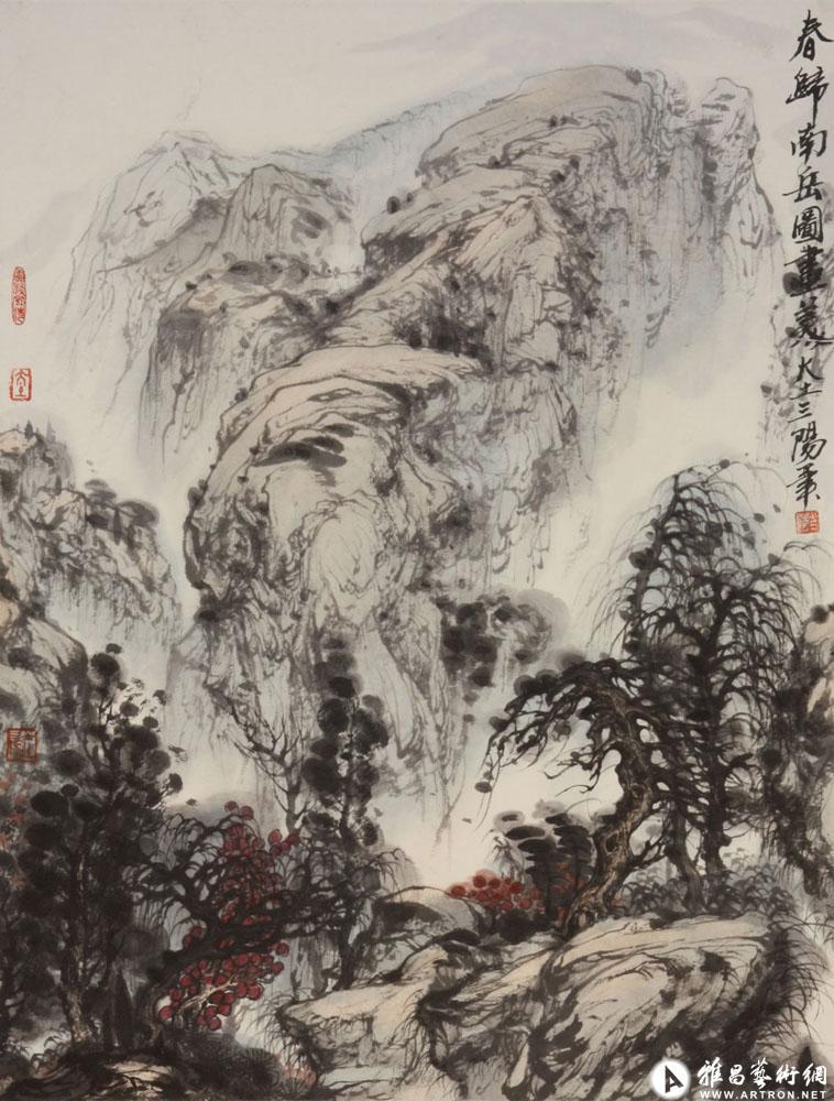 大土三阳作品:春归南岳图画美