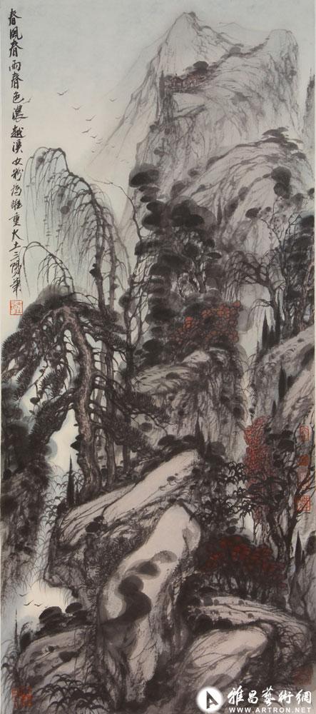 大土三阳作品:春风春雨春色浓