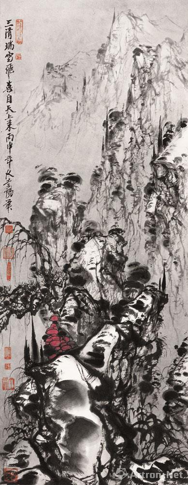 大土三阳作品:三清瑞雪飞