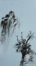 墨系列(73):仙鹤