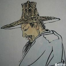 八大山人策杖图(局部1)