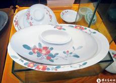 湖南省陶瓷陈列馆展示毛主席用瓷