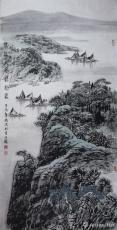 春江三月远泊图