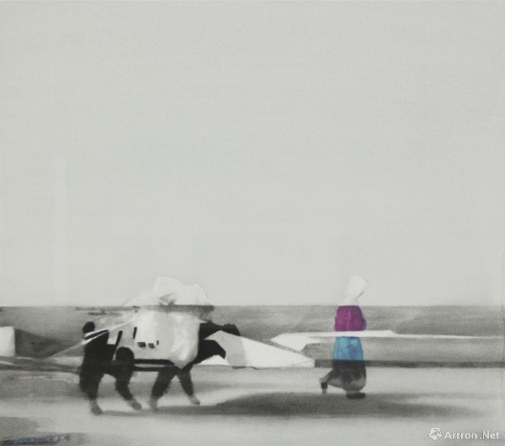 行走中的牛和人no.15