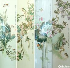 四季花鸟条屏