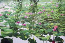 柳岸花明 Willow and Blooming Lotus