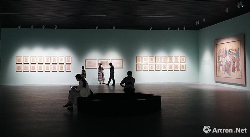 """""""叶浅予的民族学——叶浅予中国画艺术专题展""""现场"""