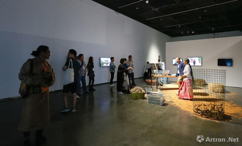 """第二届银川双年展:""""从沙漠出发——边界上的生态学""""展览现场"""