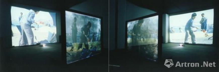《砸碎镜子的界限》(3) 宋冬 2003年